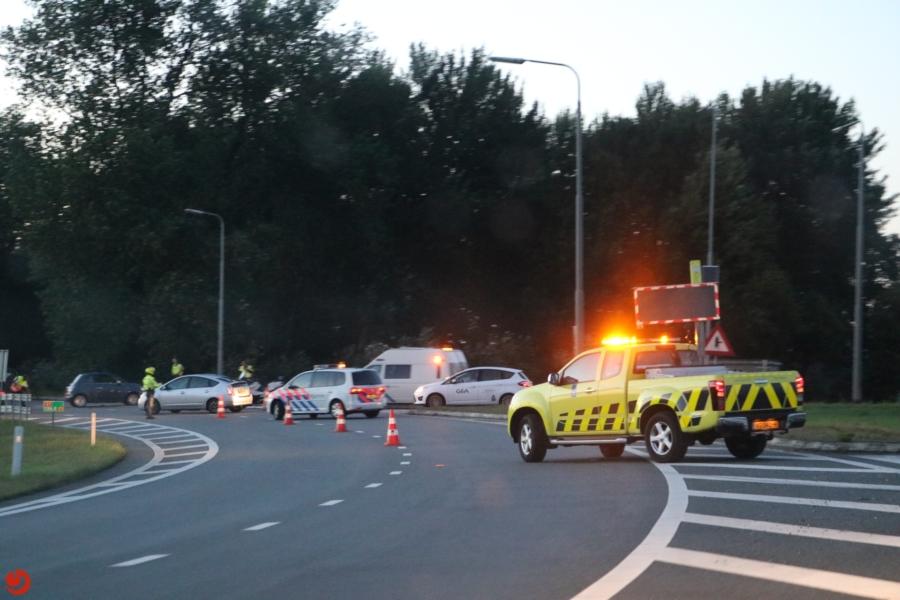Twee gewonden bij ongeval knooppunt Joure
