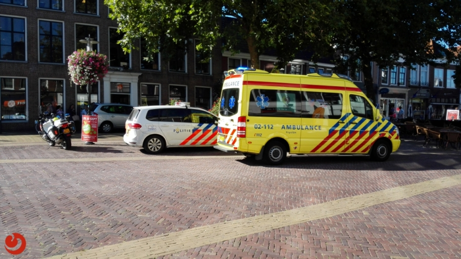 Eenzijdig ongeval binnenstad Bolsward