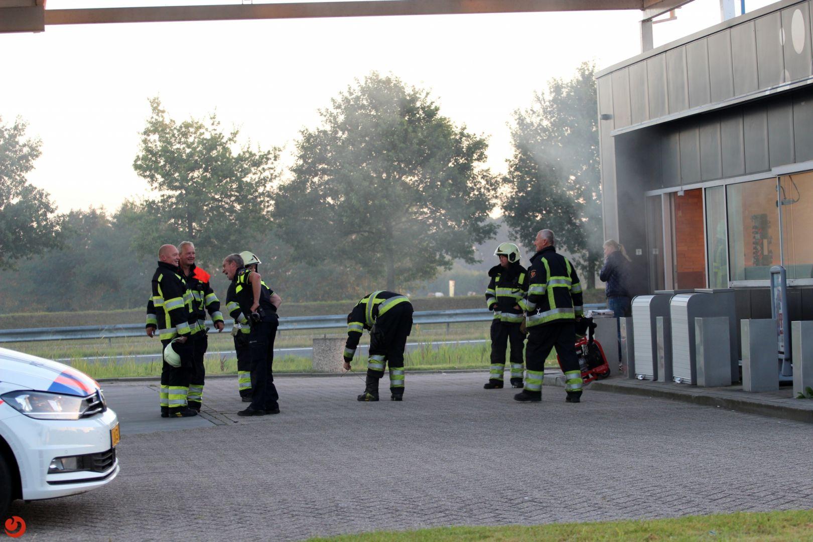 Brandweer rukt uit voor mistgenerator
