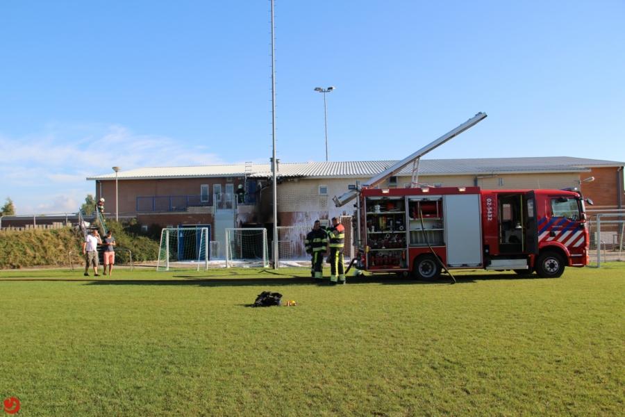 Forse schade bij brand clubgebouw VV Balk