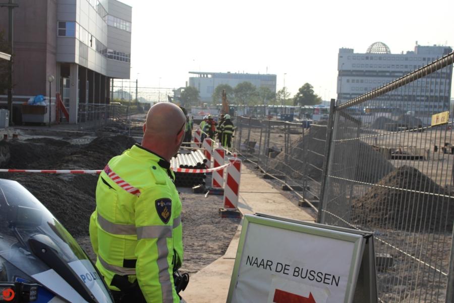 Gaslek bij werkzaamheden busstation