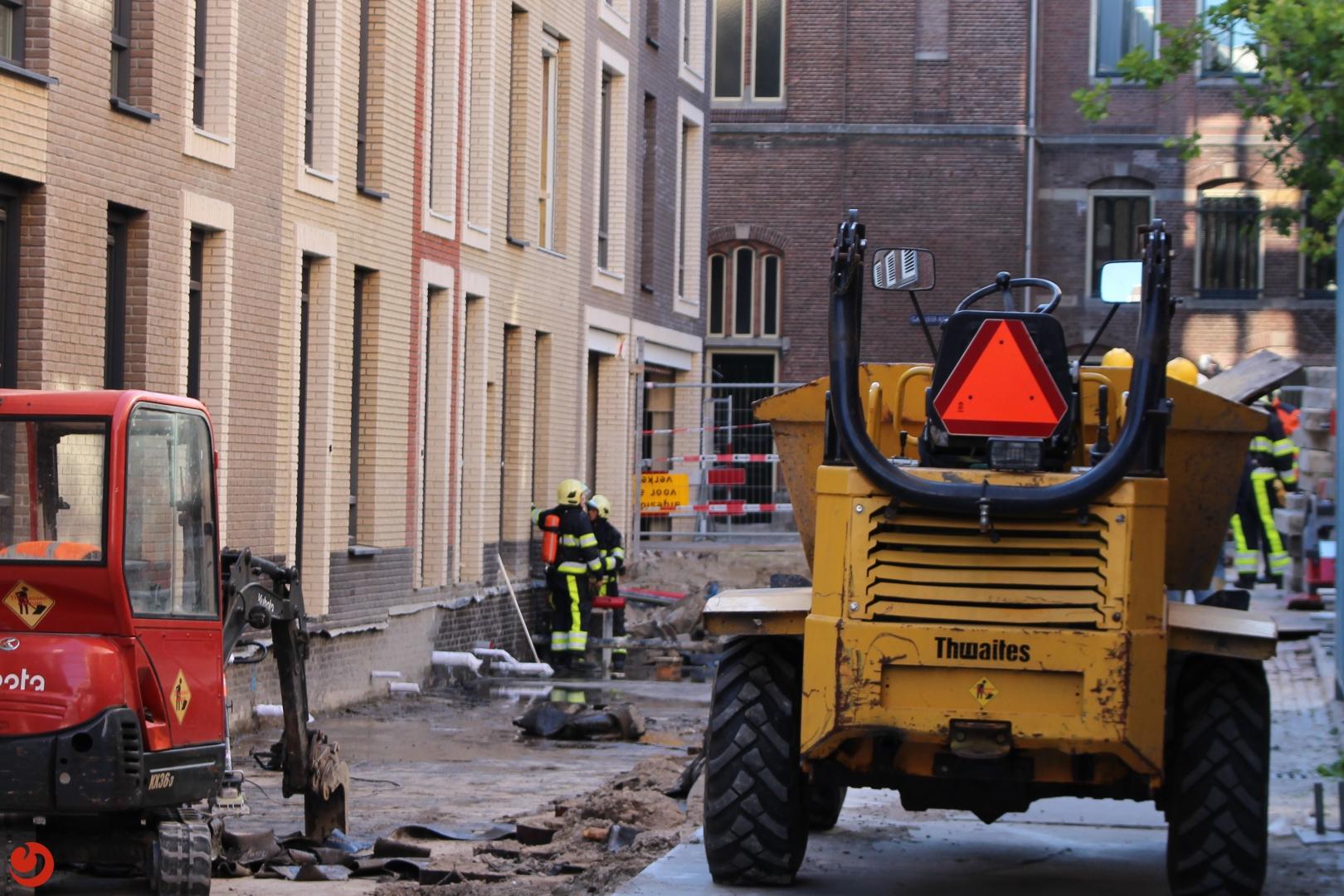 Gaslek bij werkzaamheden rondom nieuwbouw appartementen