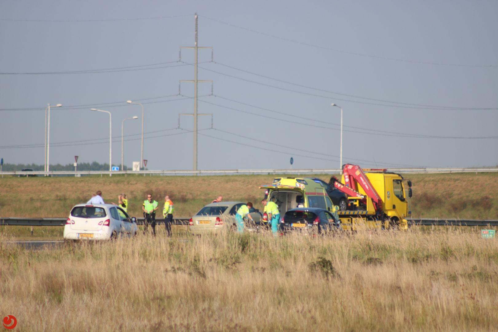 Ongeval twee voertuigen A7