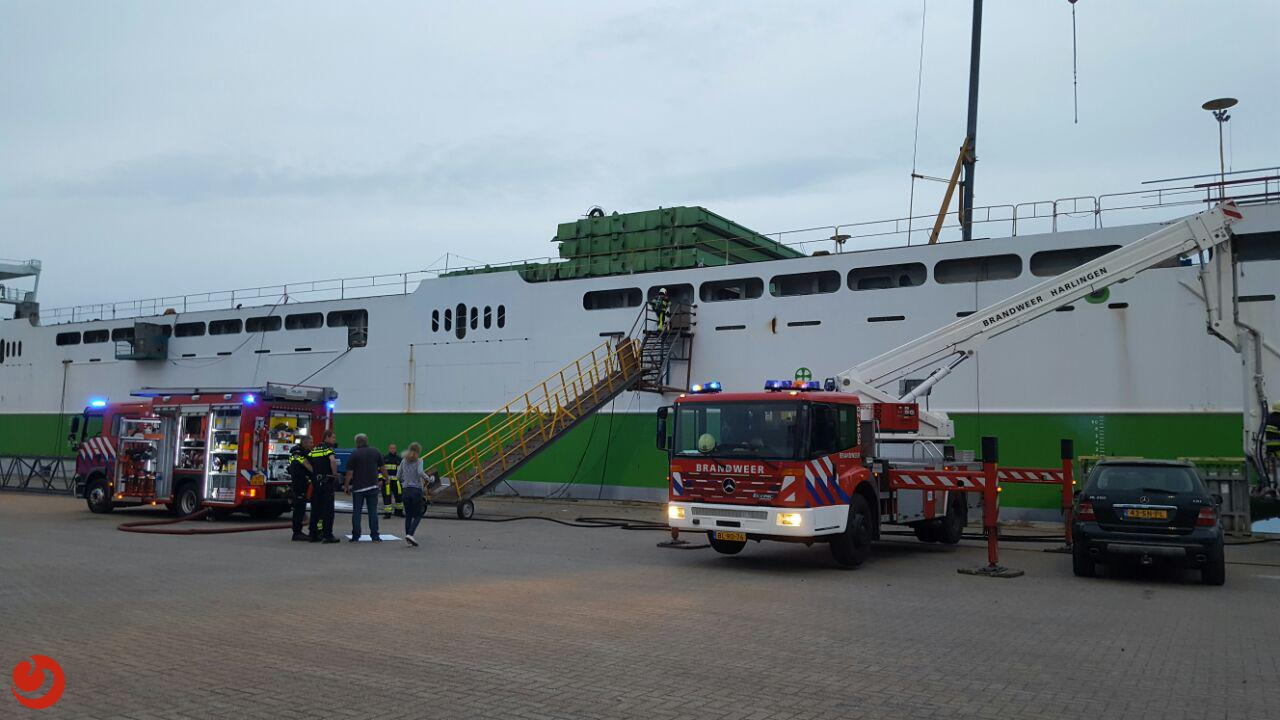 Brand op offshore supply schip