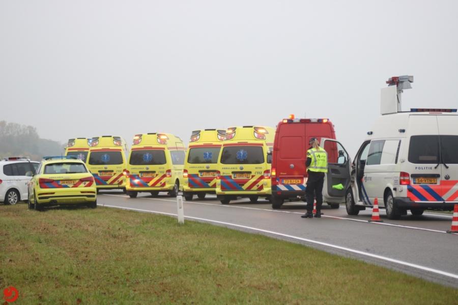 Vijf gewonden bij ernstig ongeval N354