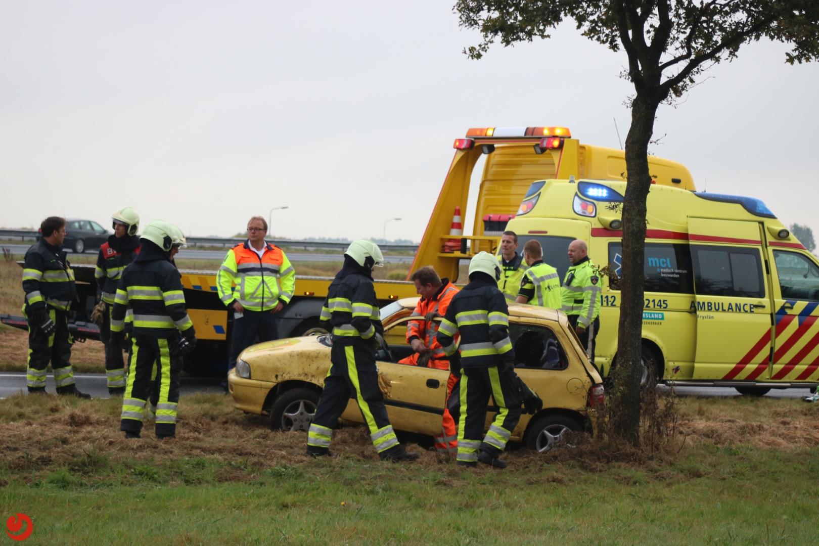 Vrouw en kind ongedeerd na ongeval