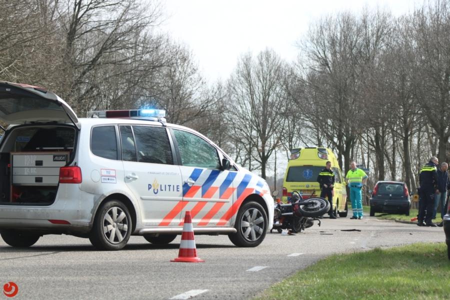 Motorrijder ernstig gewond na ongeluk