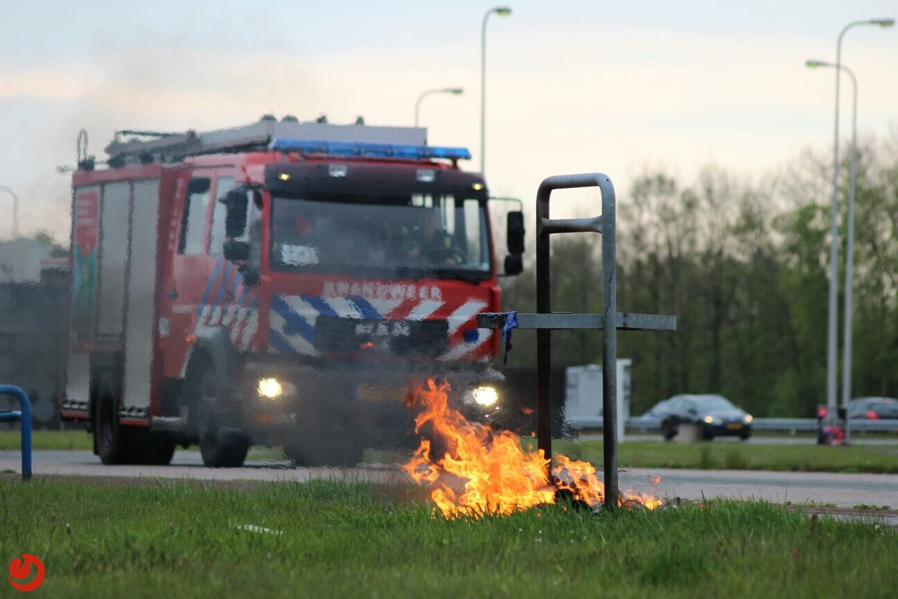 Brandje op rustplaats tankstation