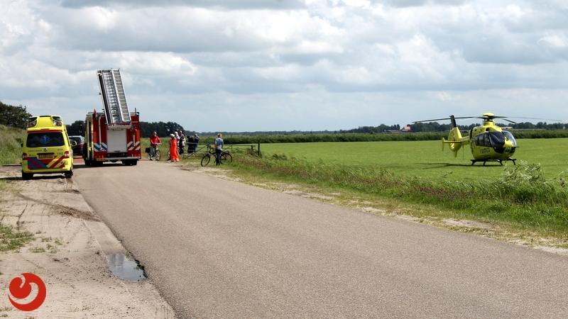 Motorcrosser gewond bij ongeval op zandbulten
