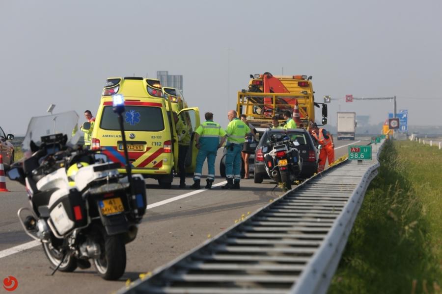 Gewonden na aanrijding Afsluitdijk