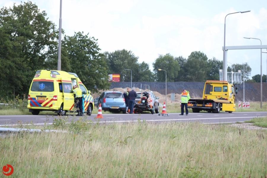Gewonde bij ongeval bij knooppunt
