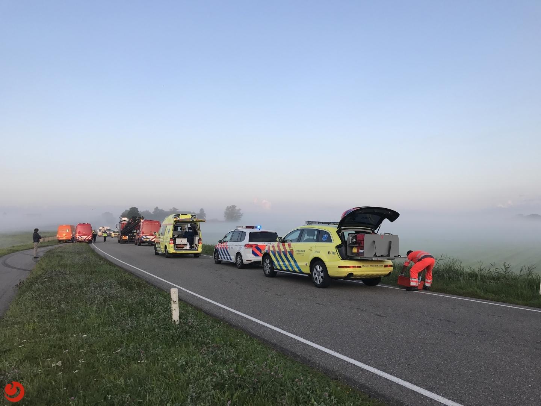 Automobilist ernstig gewond bij eenzijdig ongeval