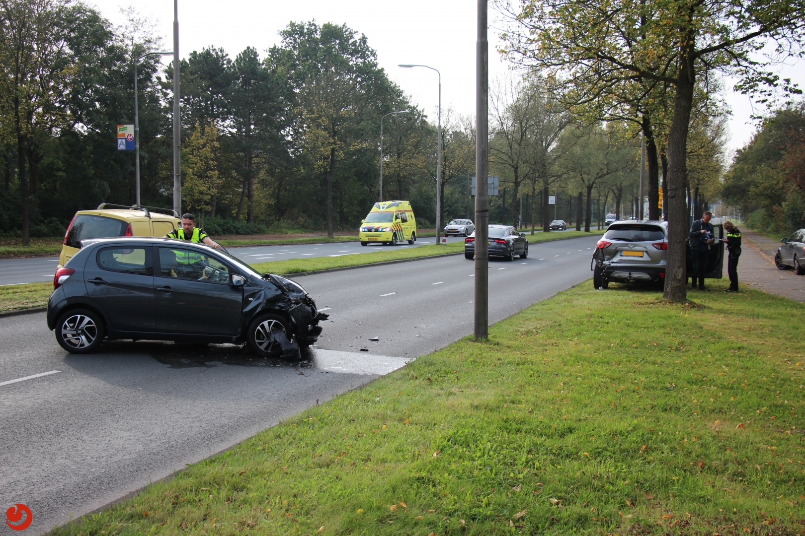 Gewonde bij ongeval Aldlânsdyk