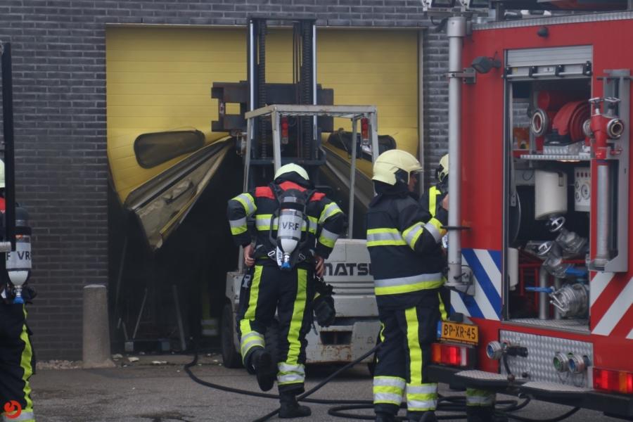 Forse binnenbrand in kaasfabriek Henri Willig