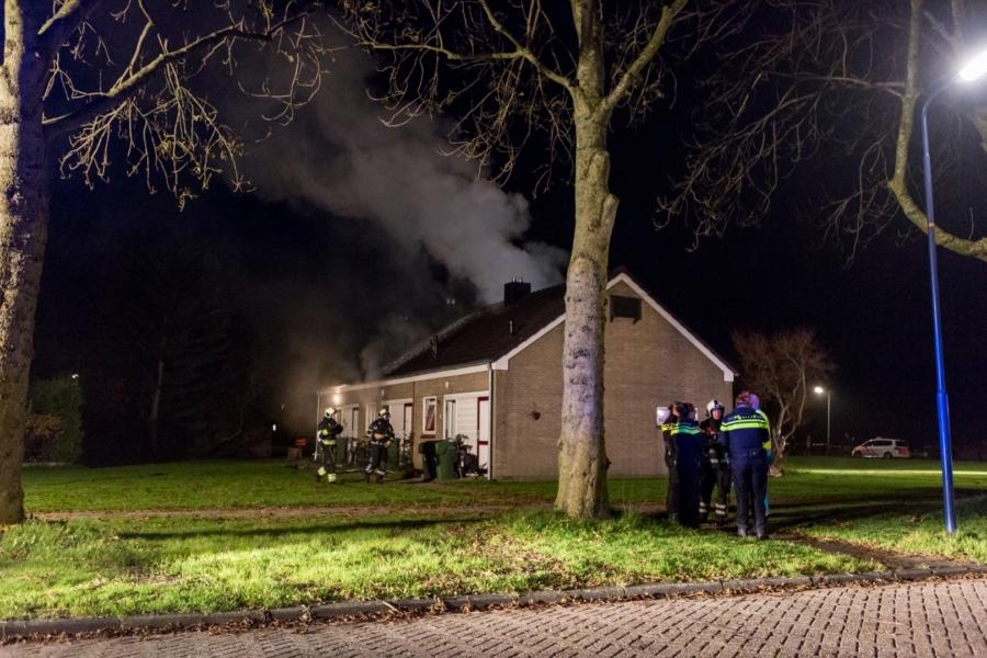 Gewonde bij uitslaande woningbrand