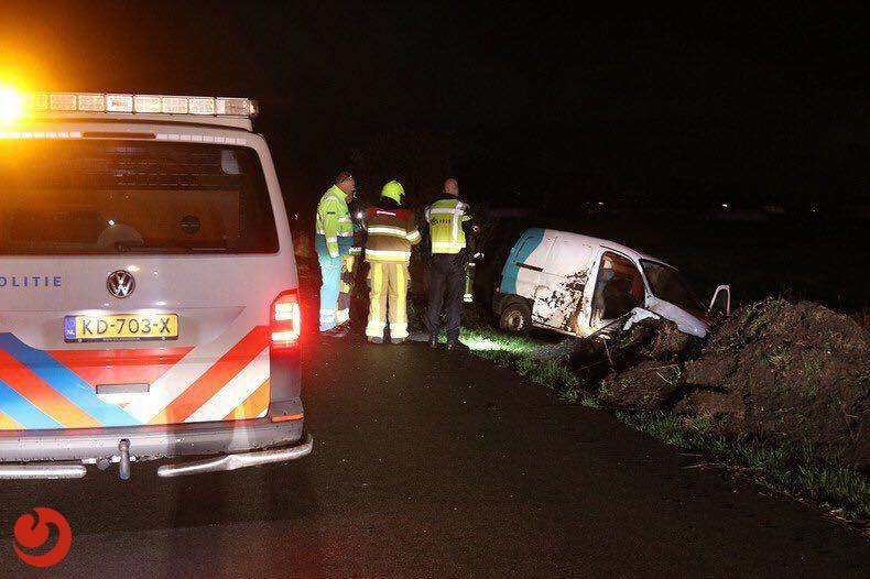 Zoektocht naar tweede inzittende verkeersongeval