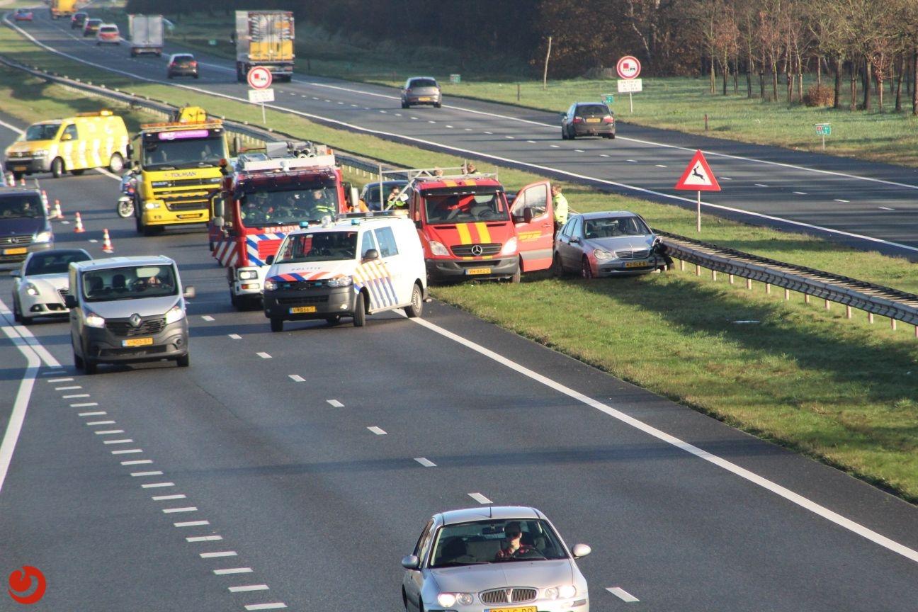 Gewonde en file door ongeval A7