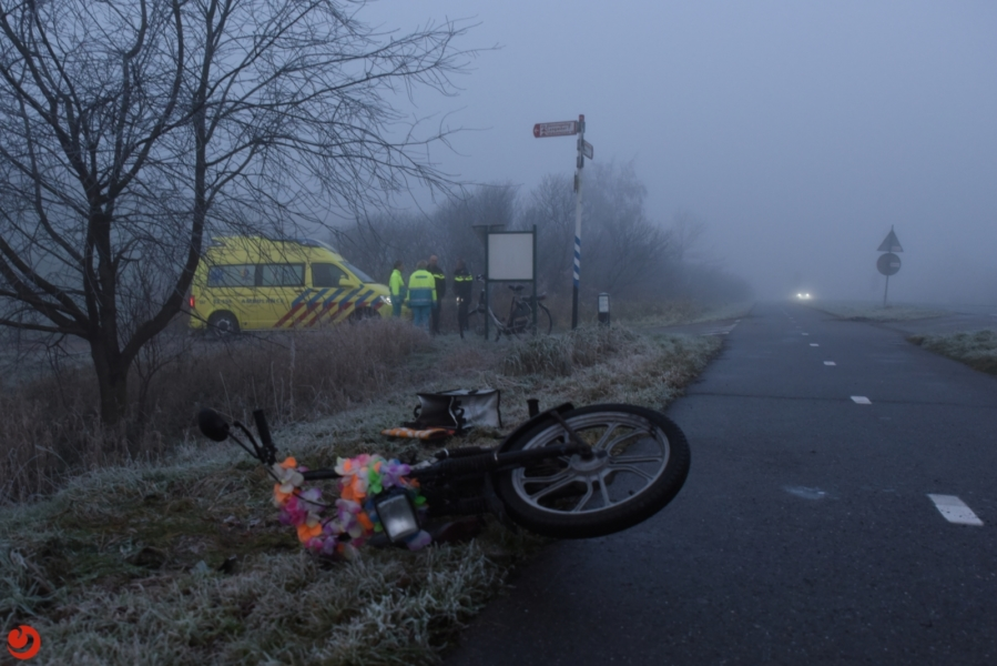 Gewonde bij frontale botsing op fietspad