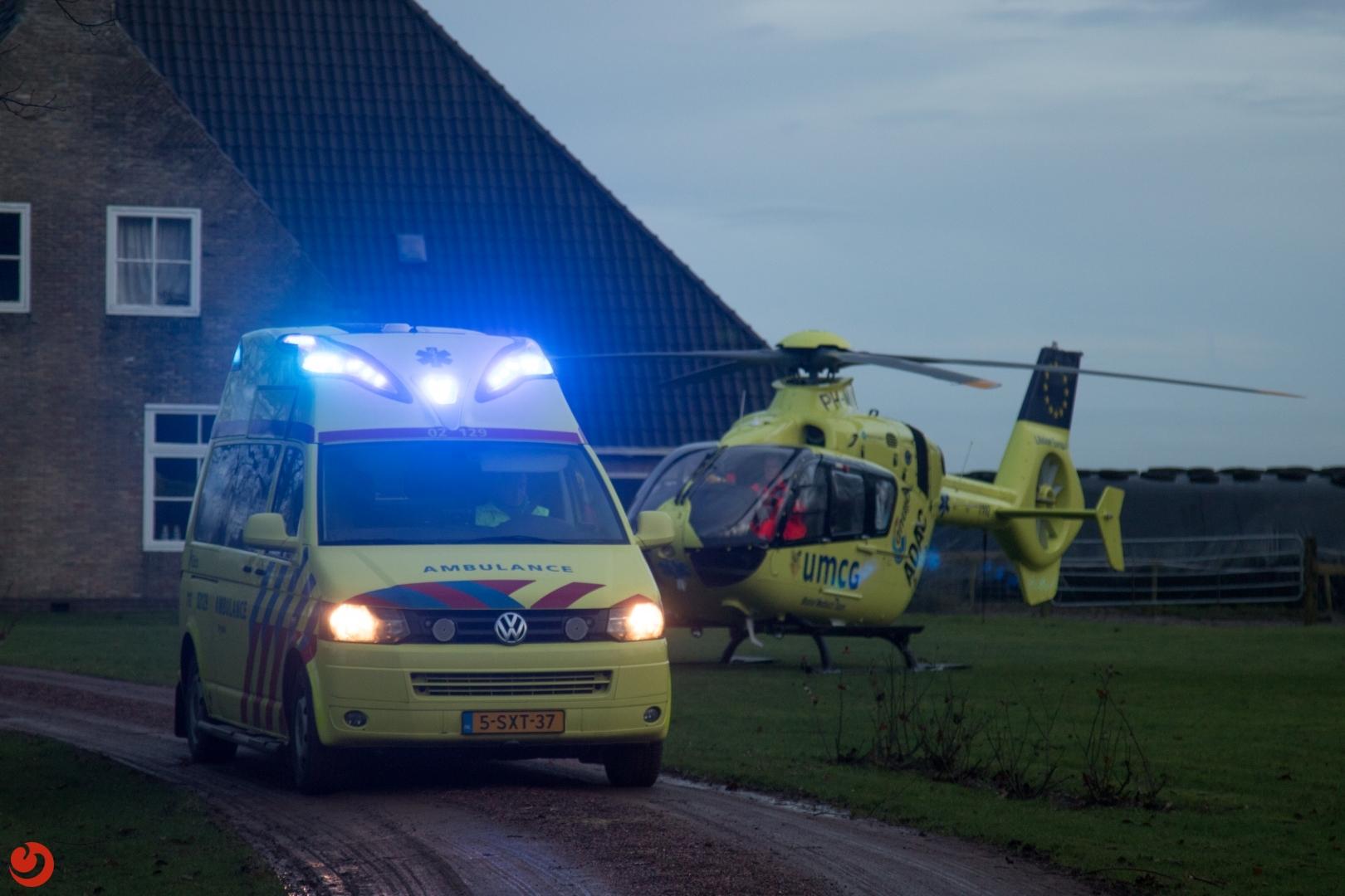 Ernstig gewonde bij ongeval op boerderij