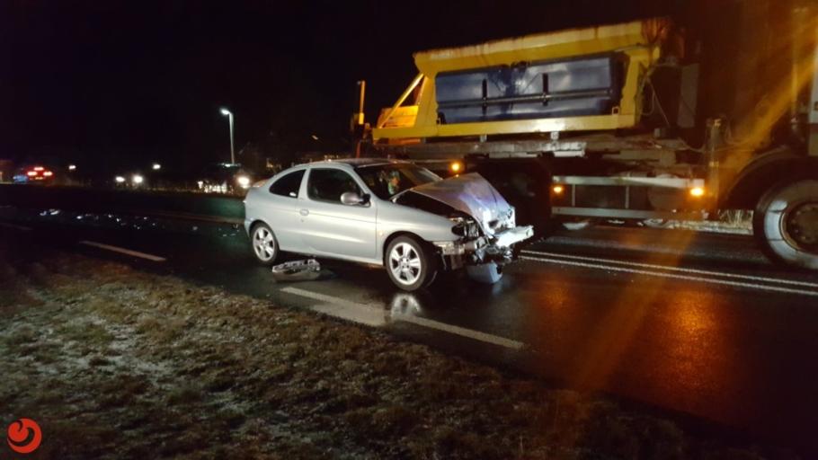 Twee personen gewond bij ongeval