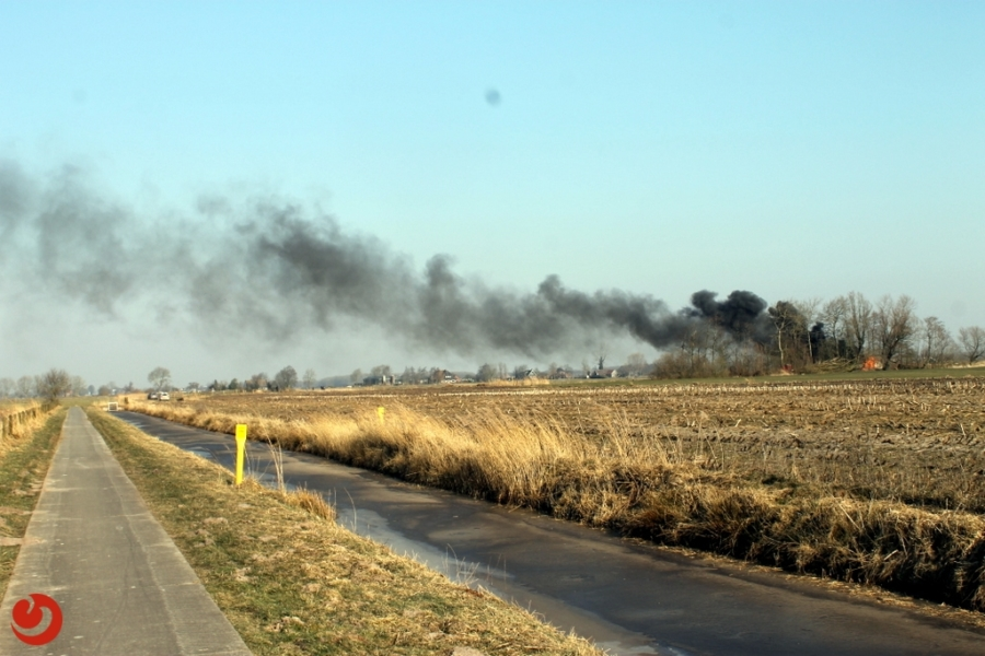 Uniek Wâldhuske compleet uitgebrand