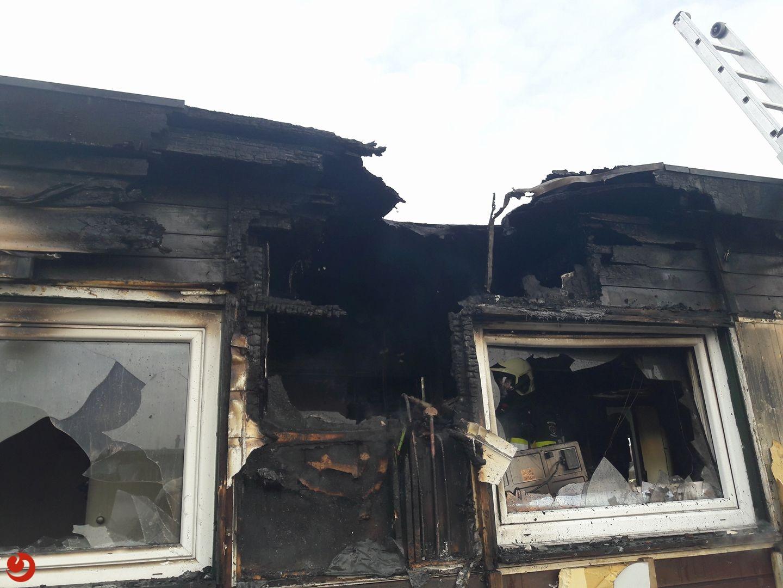 Chalet uitgebrand op vakantiepark