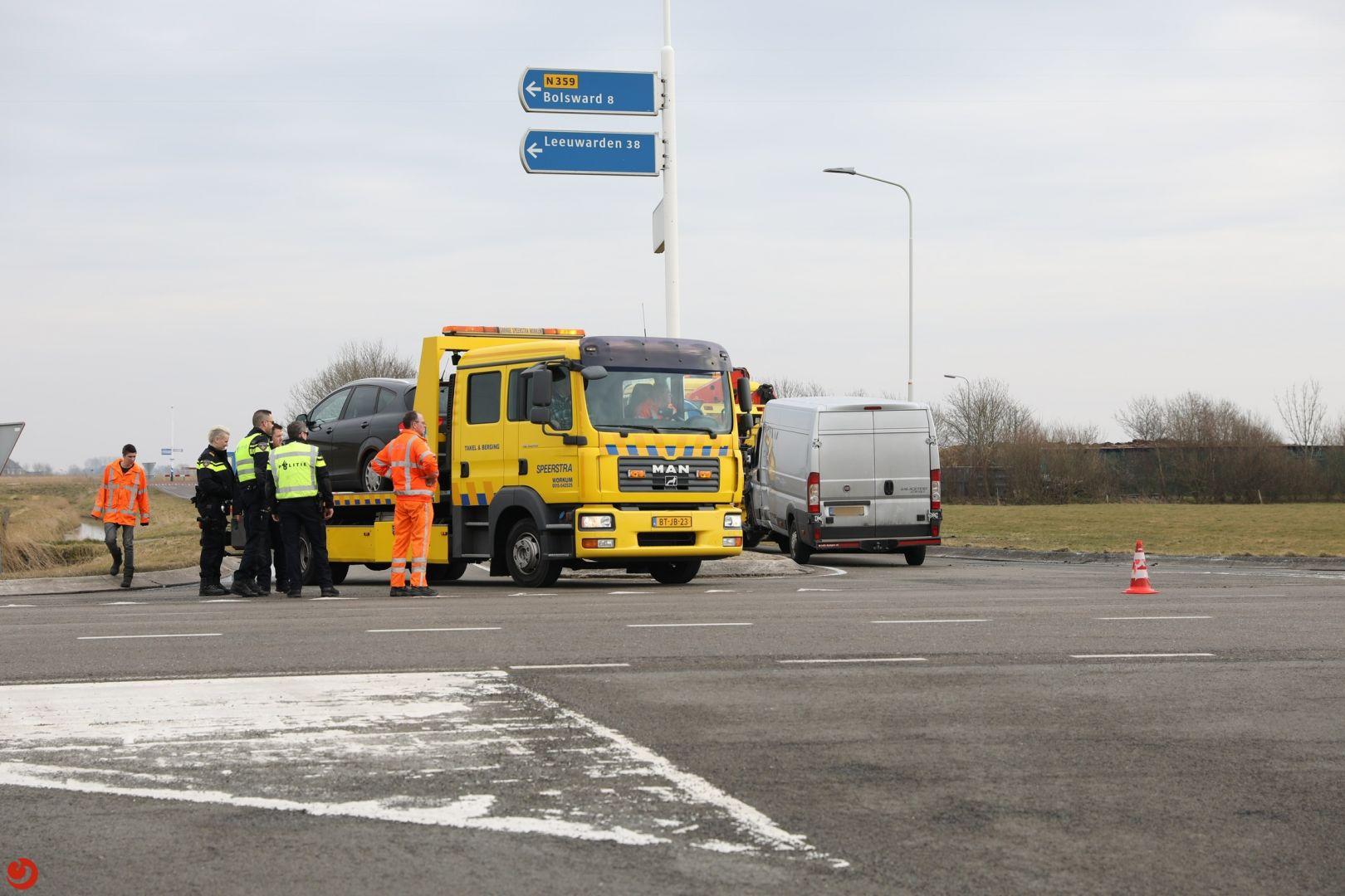 Gewonde bij ongeval op kruising N359