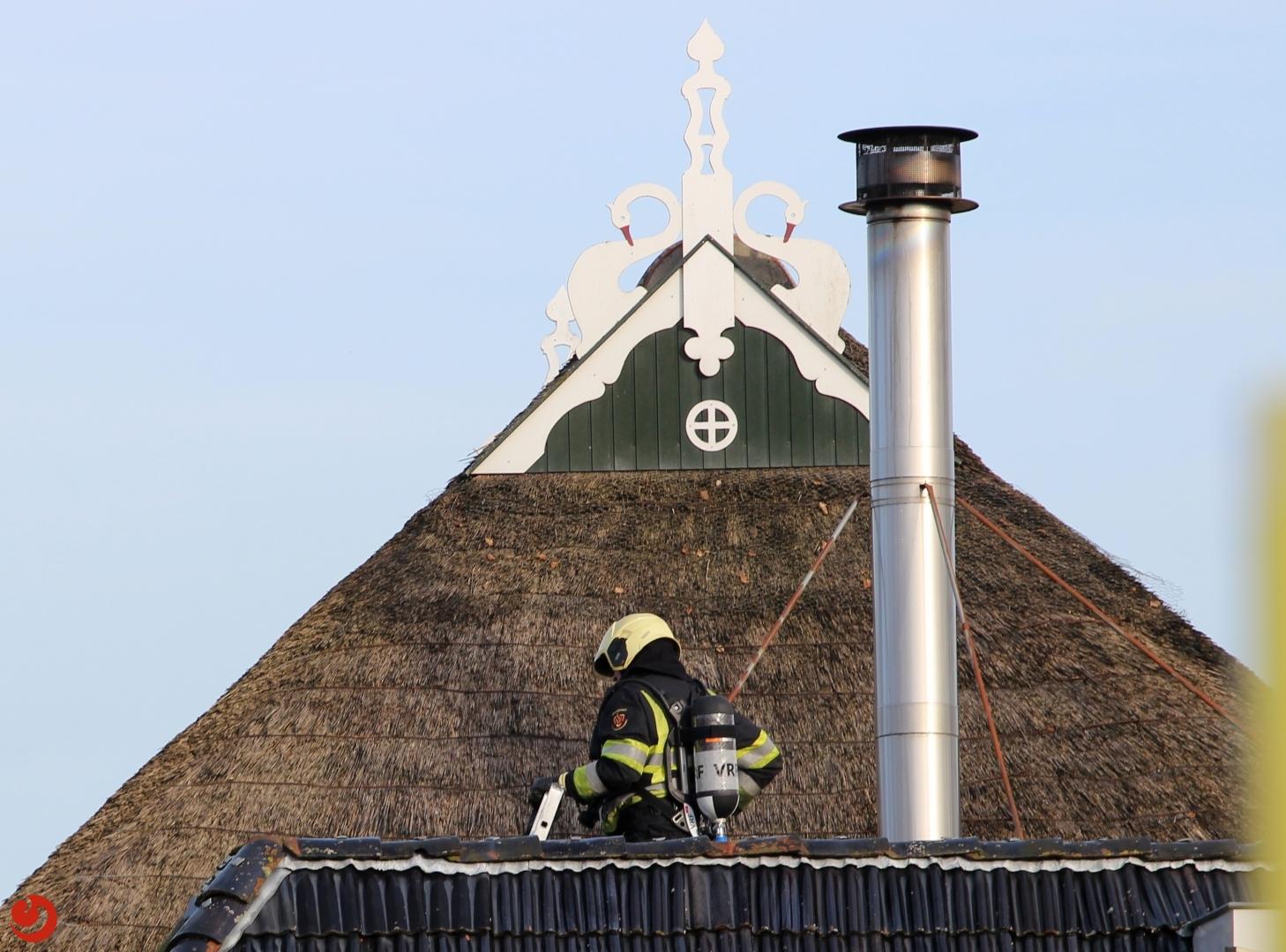 Groot alarm voor schoorsteenbrand