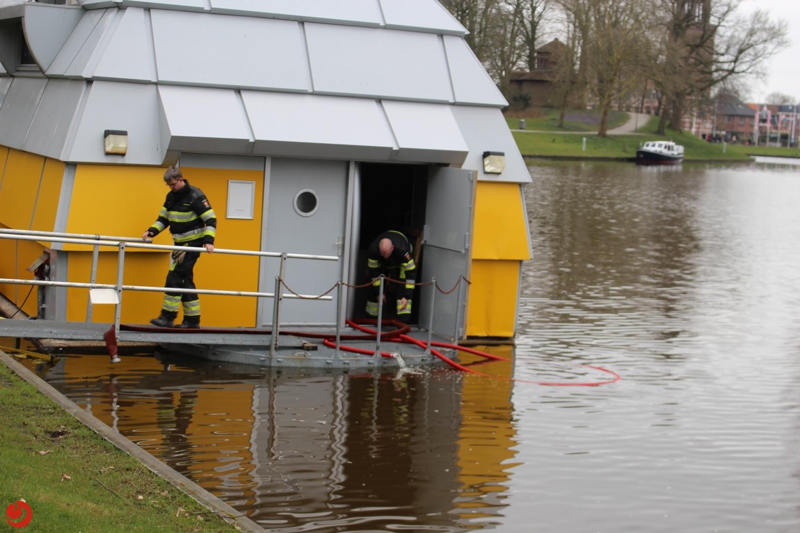 Ark in Prinsentuin maakt water