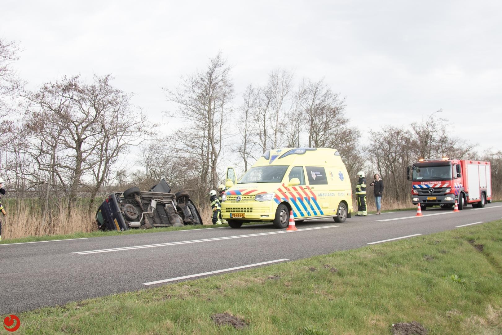 Vrouw gewond bij eenzijdig ongeval