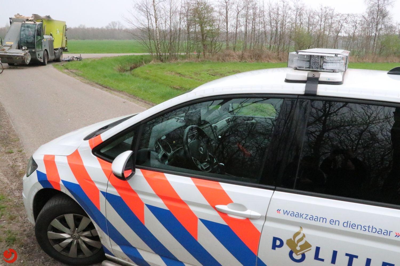 Fietsster gewond na aanrijding met voerwagen