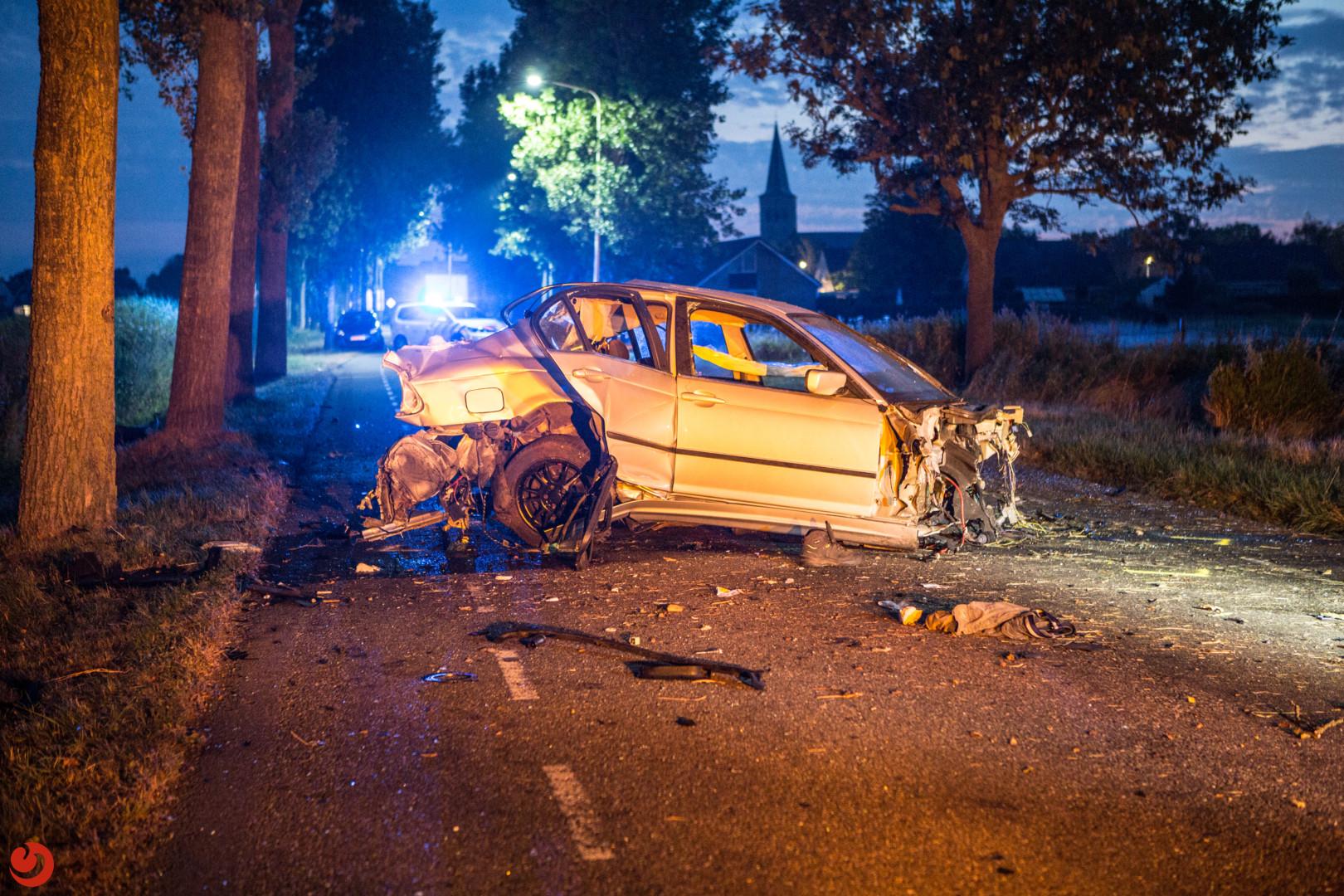 Zwaargewonden en ravage na eenzijdig ongeval