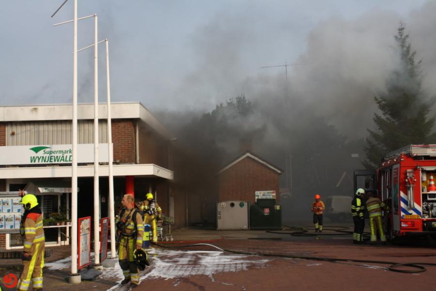 Grote brand in supermarkt