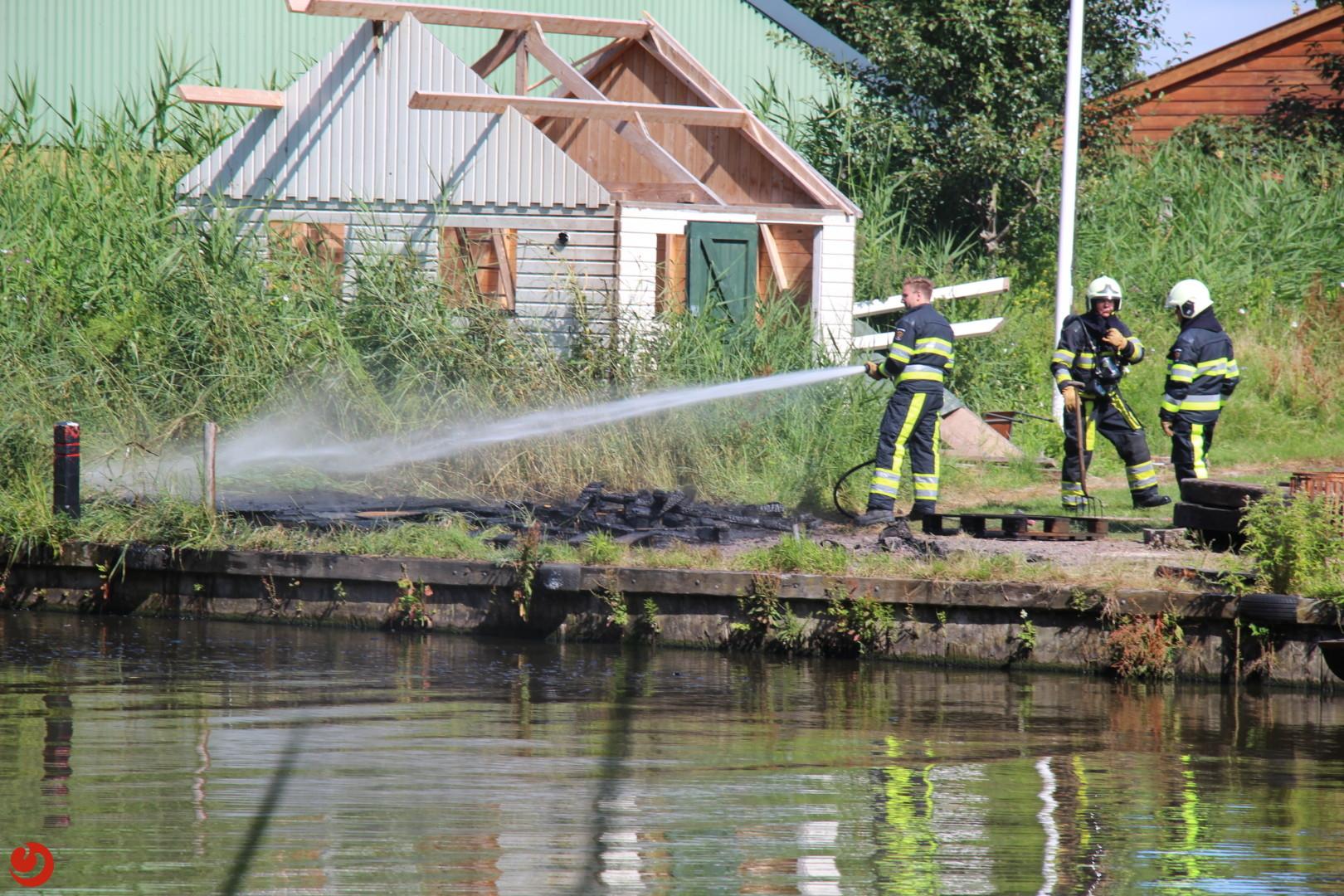 Buitenbrand bij water scouting