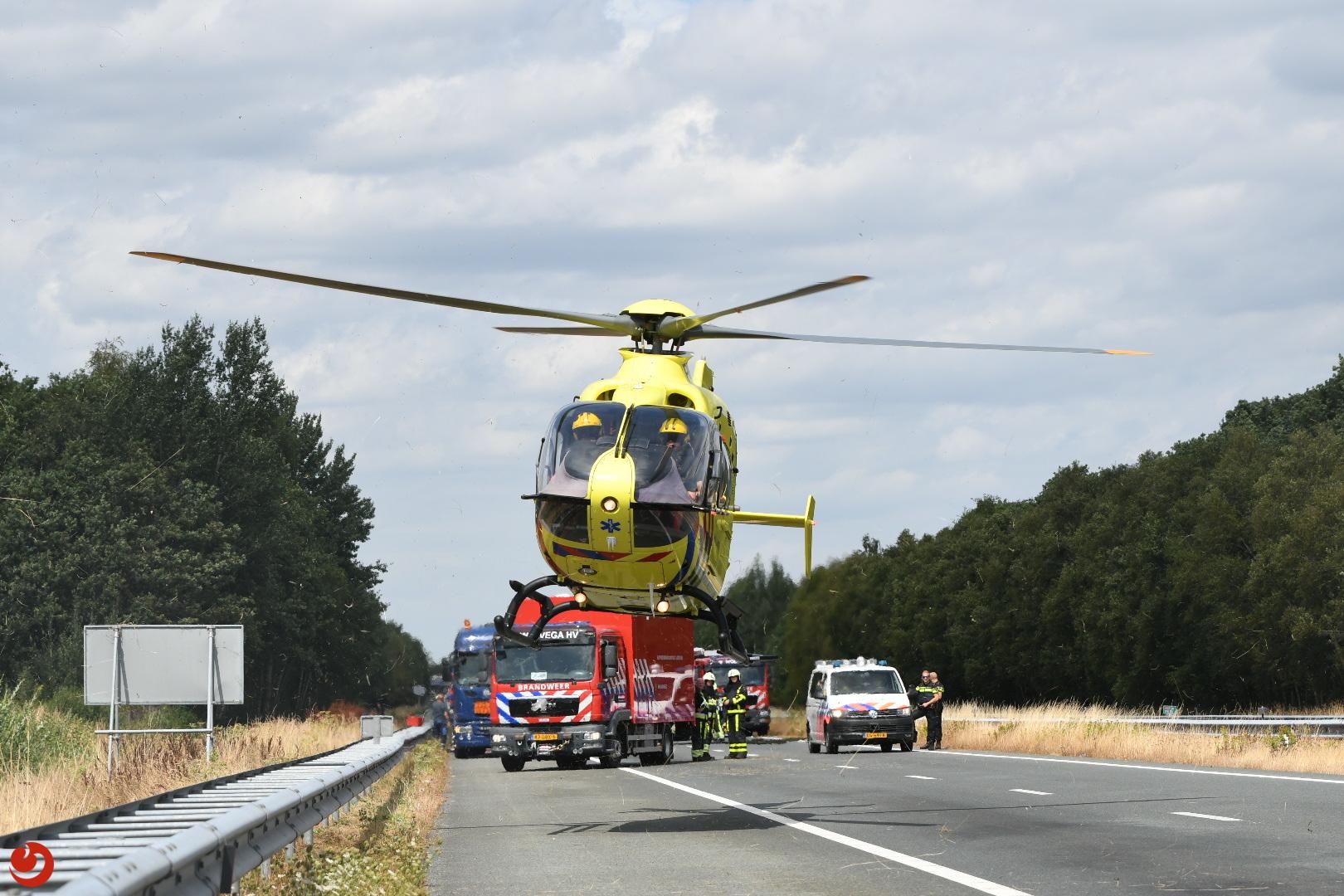 A32 dicht na ernstig ongeval