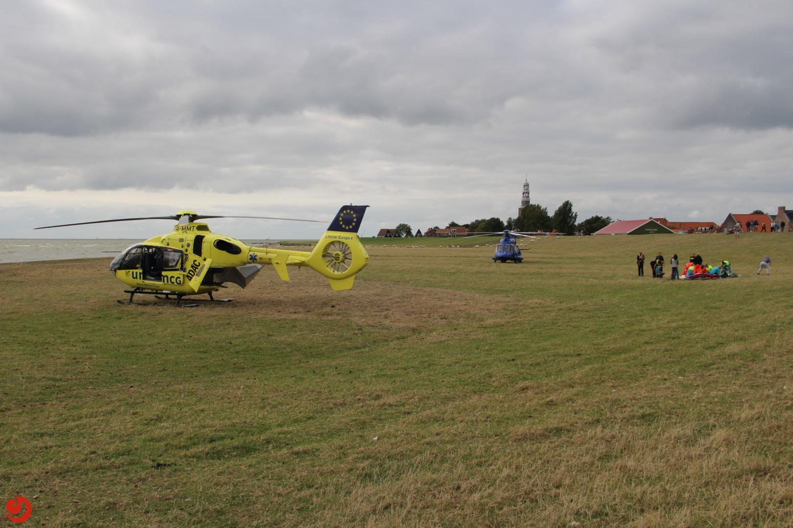 Twee helikopters ingezet bij ongeval met kitesurfer