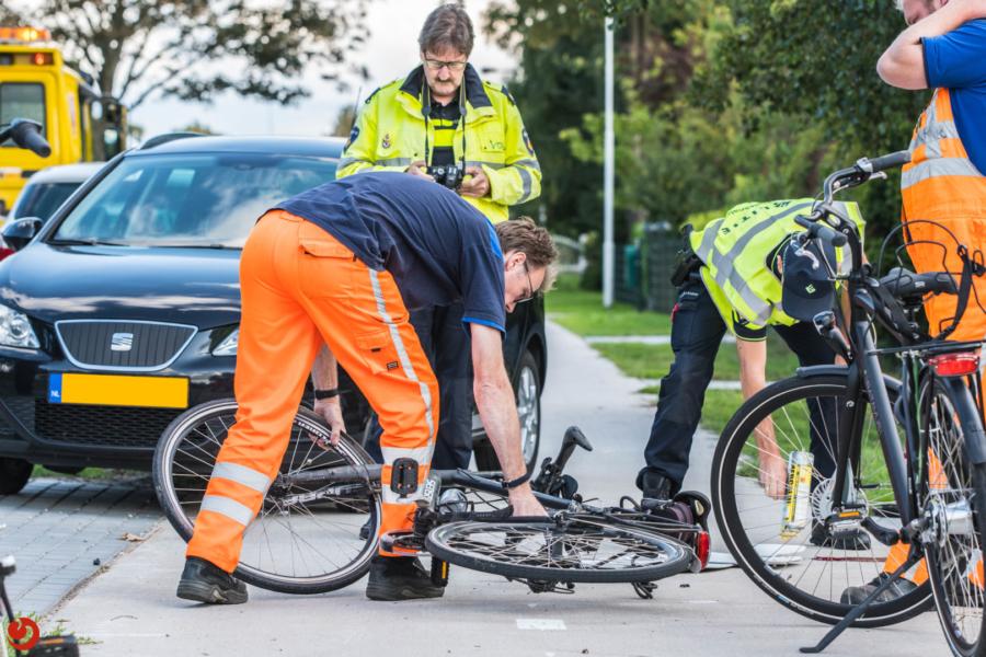 Fietser gewond na botsing op fietspad