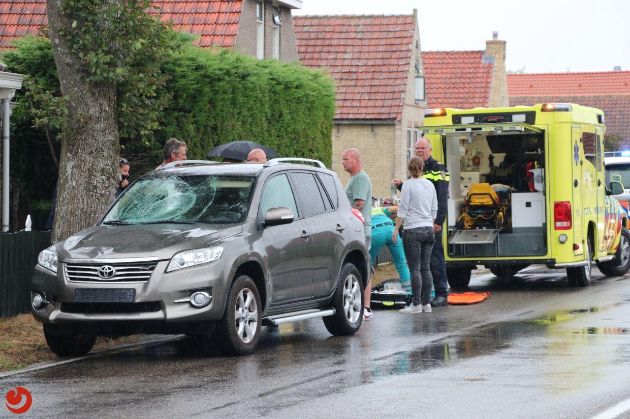 Fietser ernstig gewond na ongeval met auto