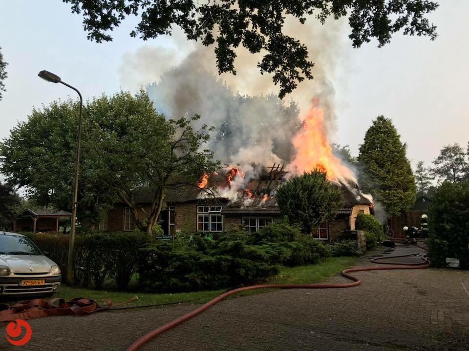 Vakantieboerderij verwoest door brand
