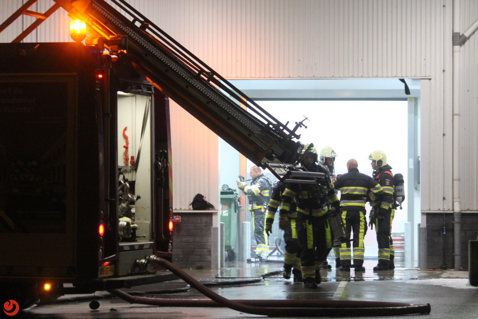 Brand in koelcel bij de Makro