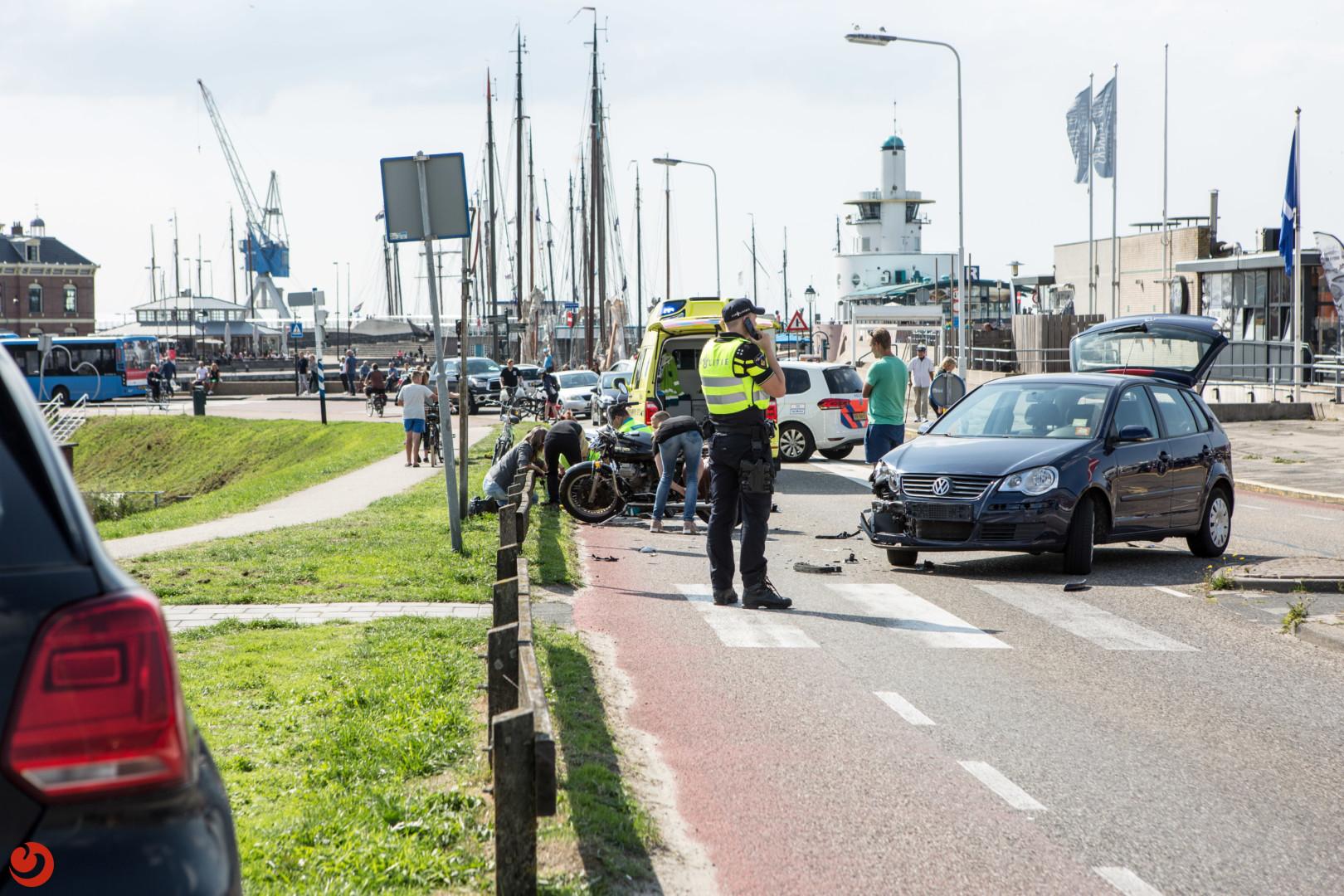 Motorrijder gewond na aanrijding