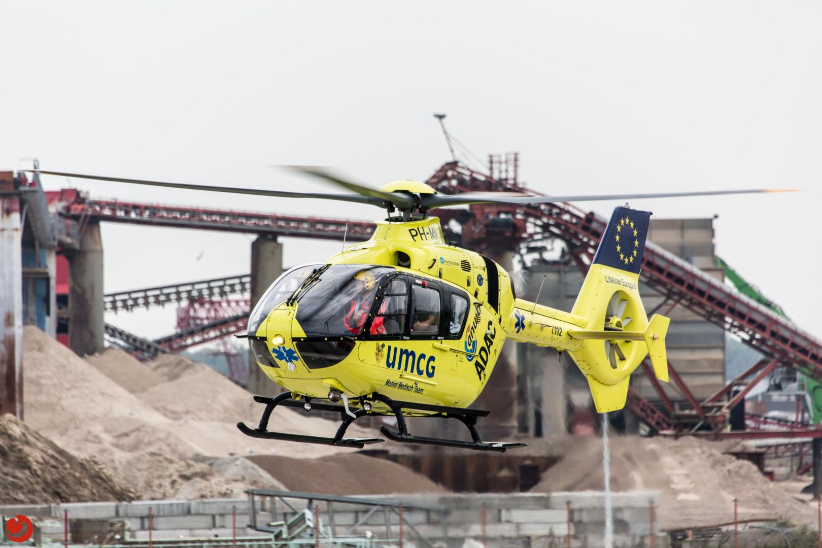 Traumahelikopter ingezet bij bedrijfsongeval