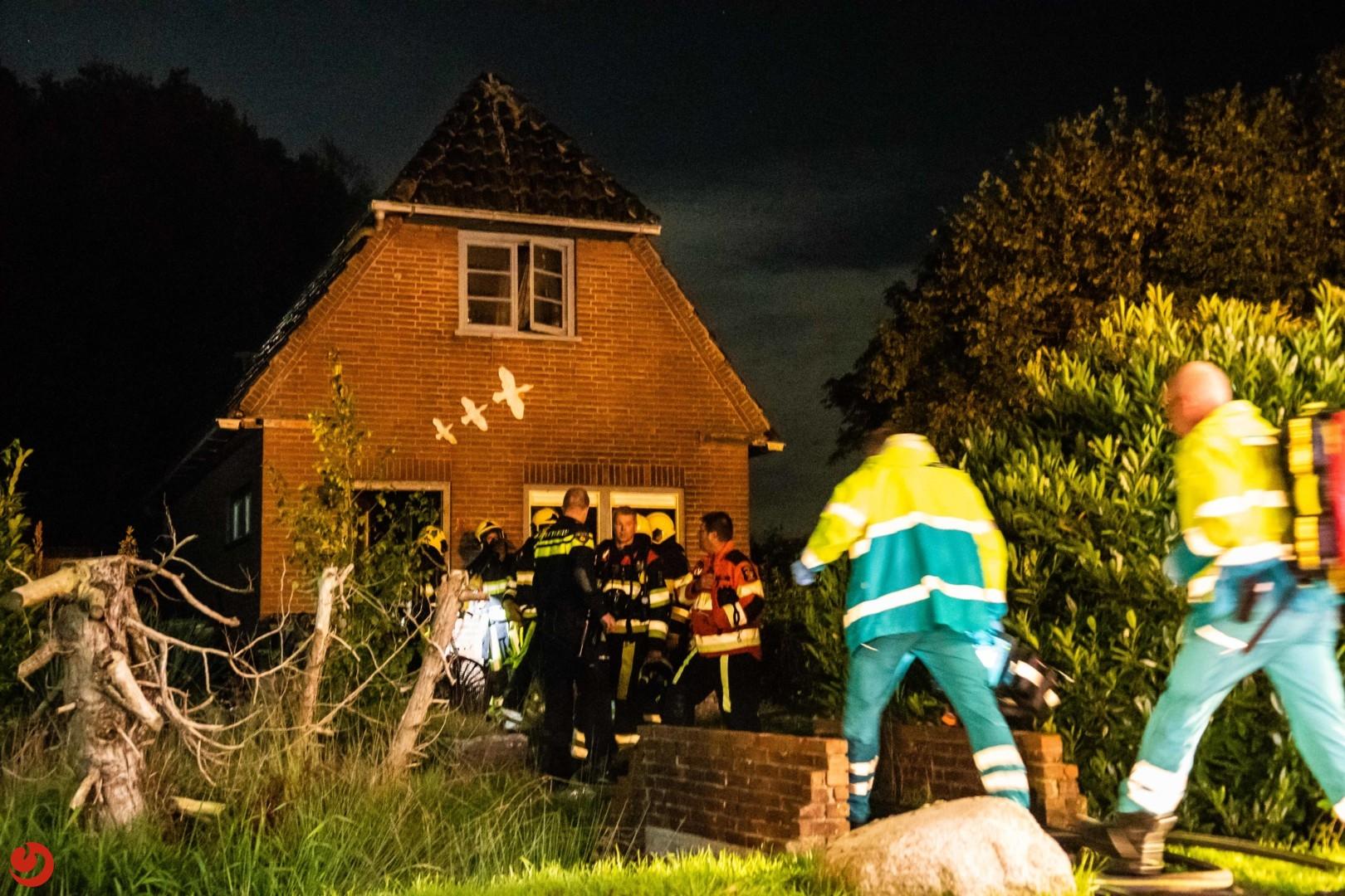 Persoon omgekomen bij woningbrand