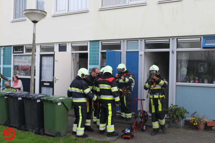 Rookontwikkeling bij brand in keuken