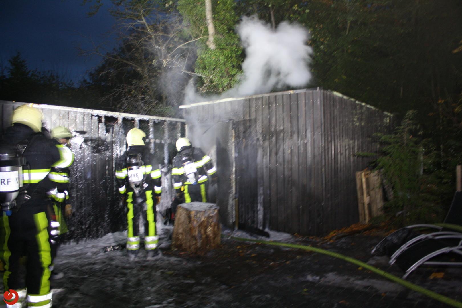 Brand in sauna tijdens opwarmen