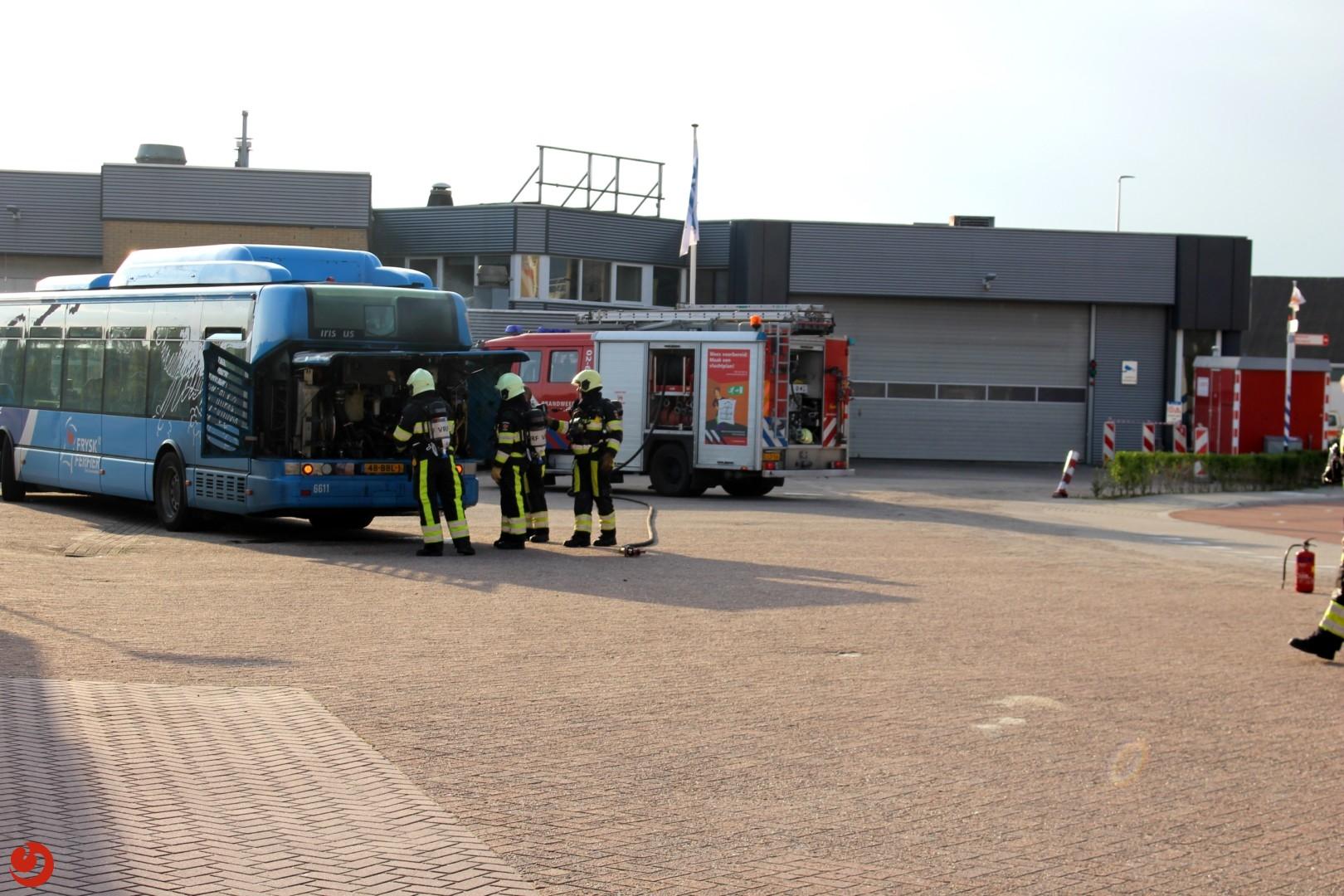 Brand in bus met gastank