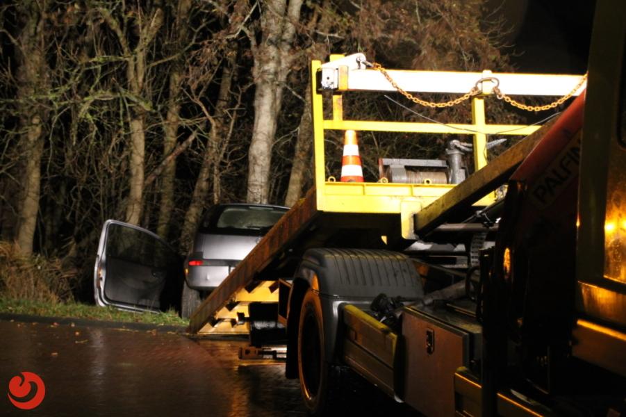 Auto zwaar beschadigd na ongeval