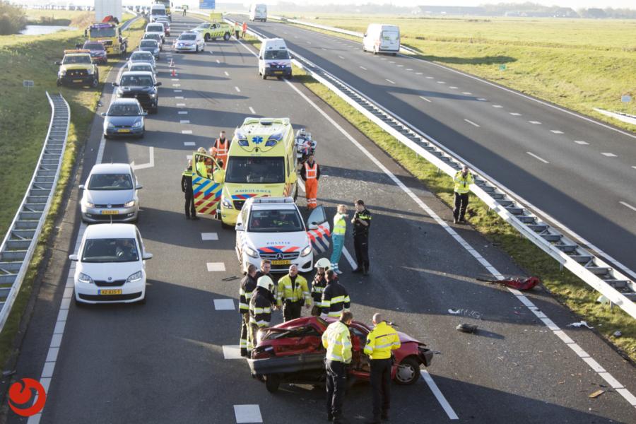 Vrouw zwaargewond bij ongeval op de N31