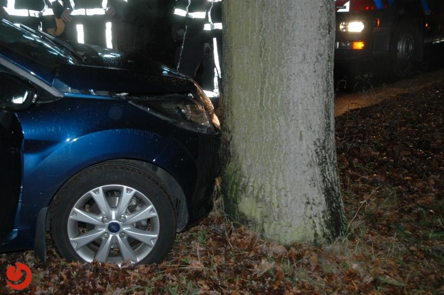 Auto tegen boom