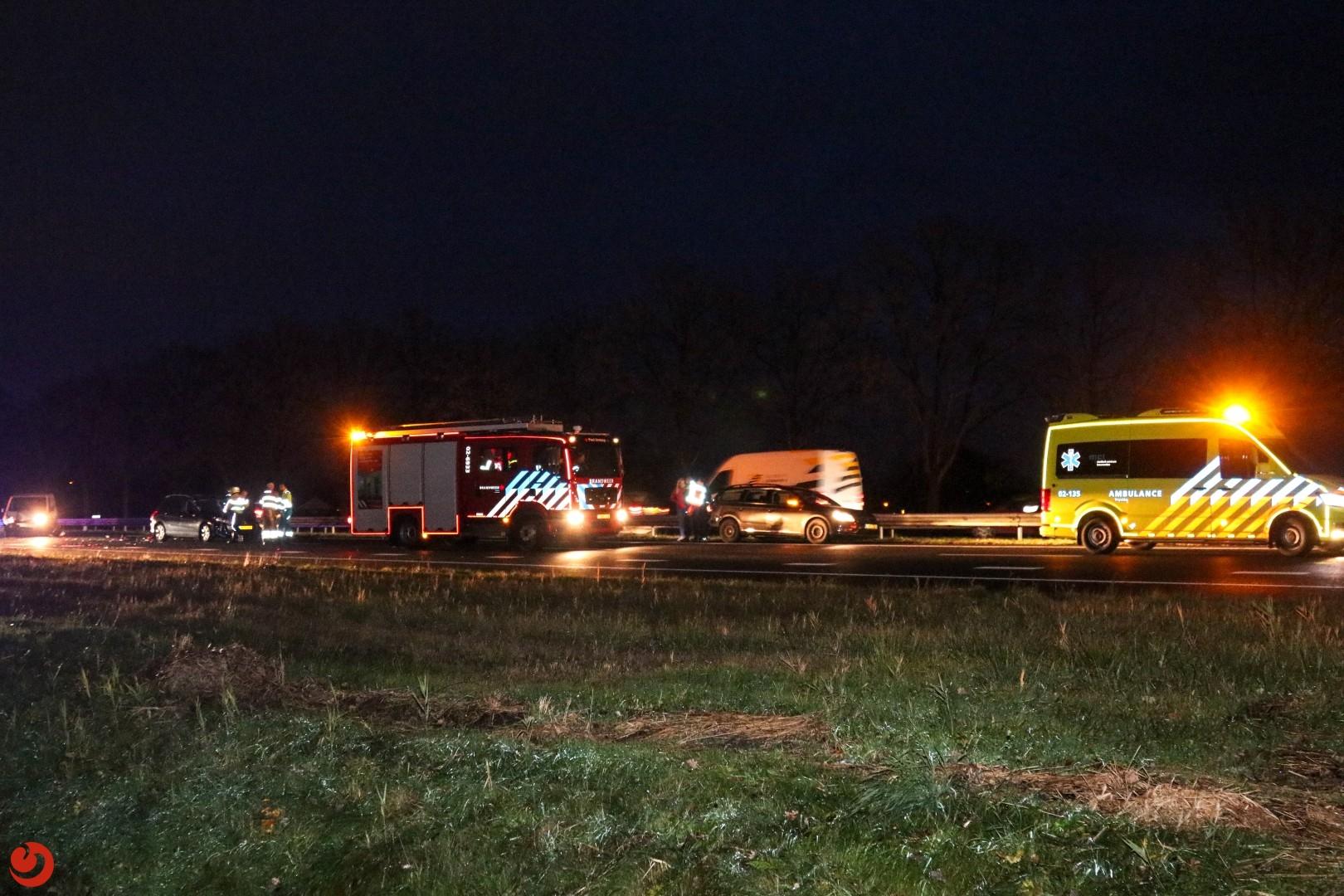 Meerdere ongevallen op de A7 en N31